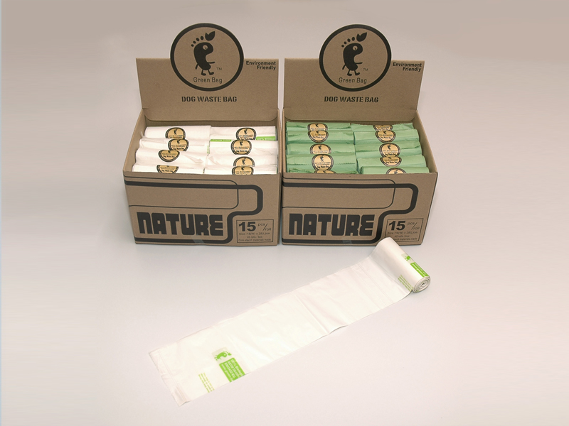 Green Dog waste bag in -Pic E-001